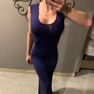 NWT Navy Blue Maxi Dress